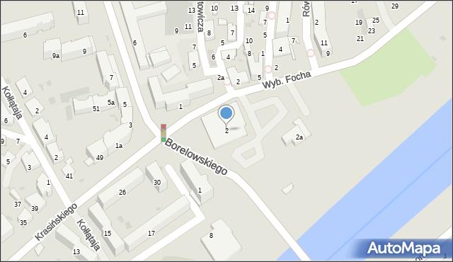 Przemyśl, Wybrzeże Ferdynanda Focha, marsz., 2, mapa Przemyśla