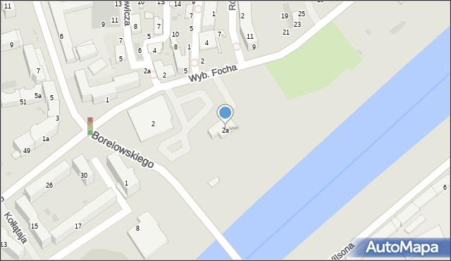 Przemyśl, Wybrzeże Ferdynanda Focha, marsz., 2a, mapa Przemyśla