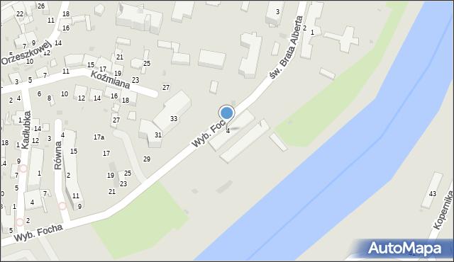Przemyśl, Wybrzeże Ferdynanda Focha, marsz., 4, mapa Przemyśla