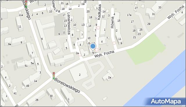Przemyśl, Wybrzeże Ferdynanda Focha, marsz., 5, mapa Przemyśla
