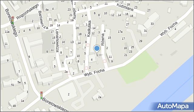 Przemyśl, Wybrzeże Ferdynanda Focha, marsz., 7, mapa Przemyśla