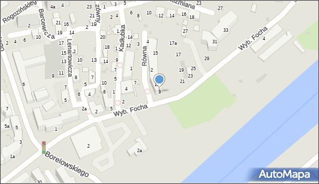 Przemyśl, Wybrzeże Ferdynanda Focha, marsz., 9, mapa Przemyśla