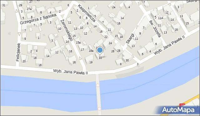 Przemyśl, Wybrzeże Ojca Świętego Jana Pawła II, 10, mapa Przemyśla