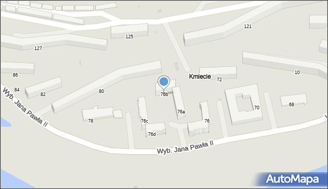 Przemyśl, Wybrzeże Ojca Świętego Jana Pawła II, 76b, mapa Przemyśla