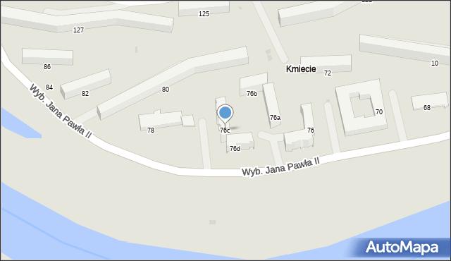 Przemyśl, Wybrzeże Ojca Świętego Jana Pawła II, 76c, mapa Przemyśla