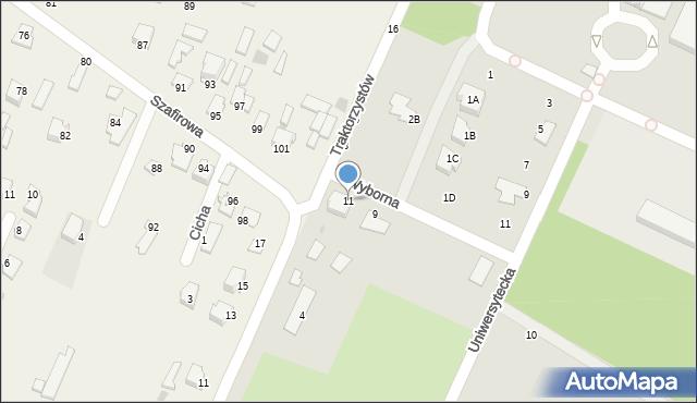 Radom, Wyborna, 11, mapa Radomia