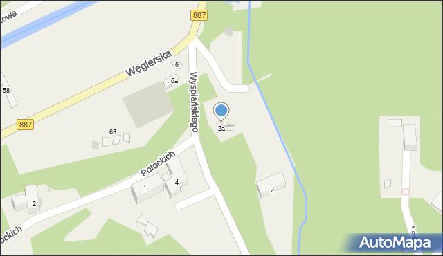 Rymanów-Zdrój, Wyspiańskiego Stanisława, 2a, mapa Rymanów-Zdrój