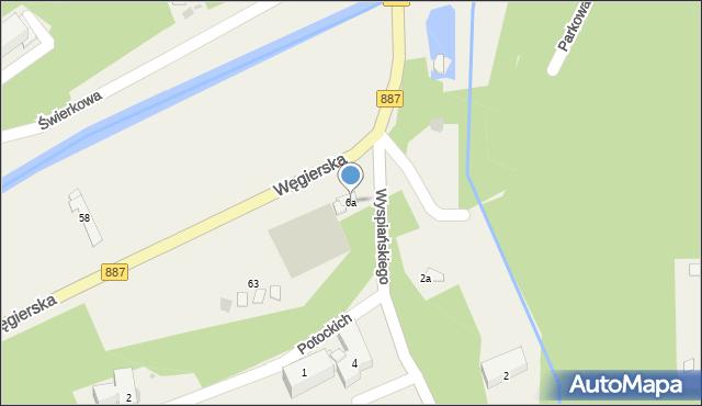 Rymanów-Zdrój, Wyspiańskiego Stanisława, 6a, mapa Rymanów-Zdrój