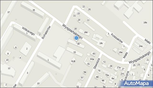Rzeszów, Wyspiańskiego Stanisława, 31a, mapa Rzeszów