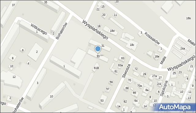 Rzeszów, Wyspiańskiego Stanisława, 33, mapa Rzeszów