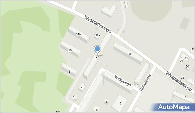 Rzeszów, Wyspiańskiego Stanisława, 37, mapa Rzeszów