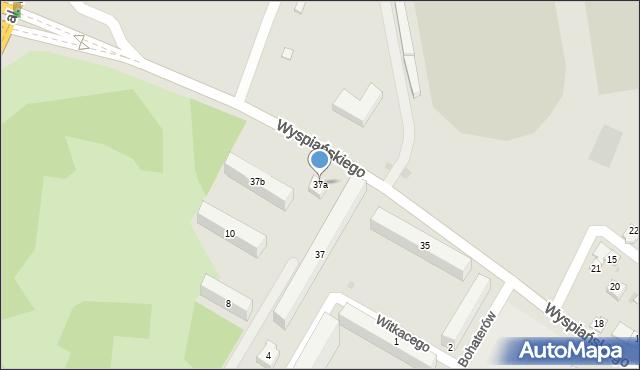 Rzeszów, Wyspiańskiego Stanisława, 37a, mapa Rzeszów