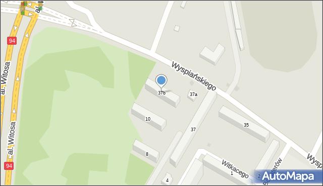 Rzeszów, Wyspiańskiego Stanisława, 37b, mapa Rzeszów