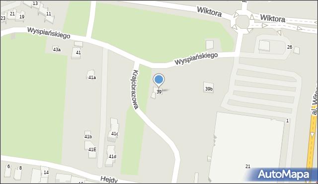 Rzeszów, Wyspiańskiego Stanisława, 39, mapa Rzeszów