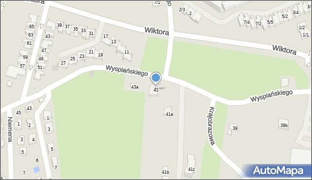 Rzeszów, Wyspiańskiego Stanisława, 41, mapa Rzeszów