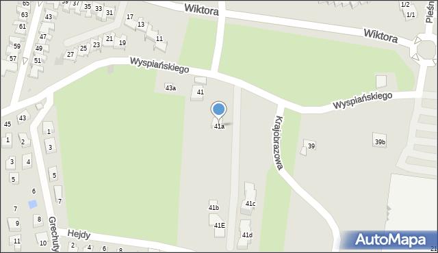 Rzeszów, Wyspiańskiego Stanisława, 41a, mapa Rzeszów
