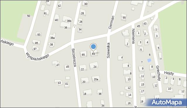 Rzeszów, Wyspiańskiego Stanisława, 63, mapa Rzeszów