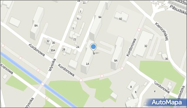 Sosnowiec, Wysoka, 9, mapa Sosnowca