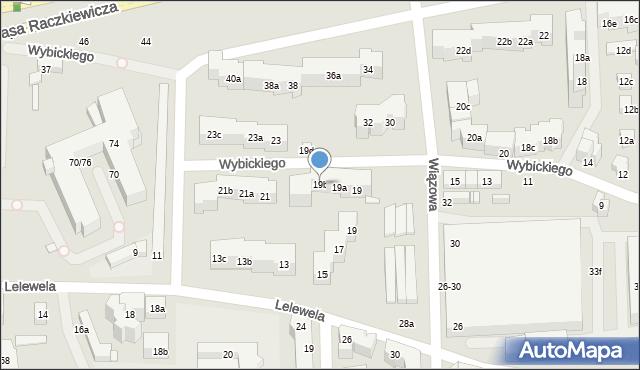 Toruń, Wybickiego Józefa, gen., 19b, mapa Torunia