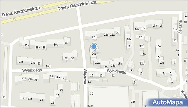 Toruń, Wybickiego Józefa, gen., 20c, mapa Torunia