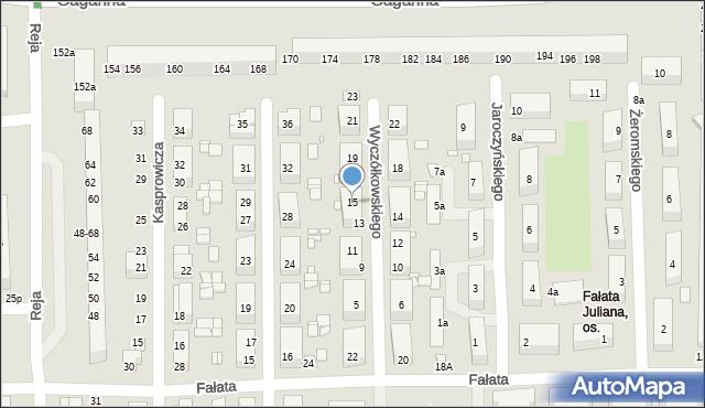 Toruń, Wyczółkowskiego Leona, 15, mapa Torunia