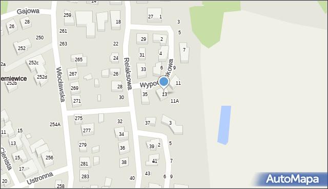 Toruń, Wypoczynkowa, 13, mapa Torunia