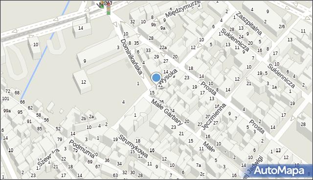 Toruń, Wysoka, 13, mapa Torunia