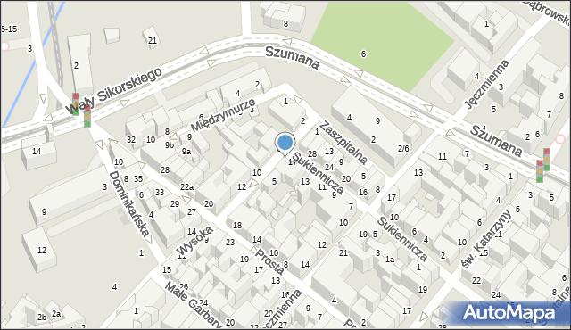 Toruń, Wysoka, 3, mapa Torunia
