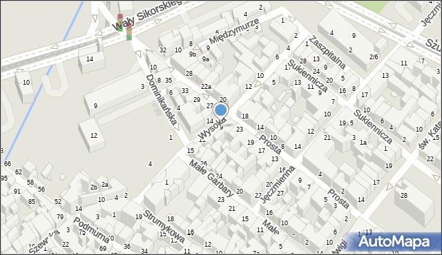 Toruń, Wysoka, 7, mapa Torunia