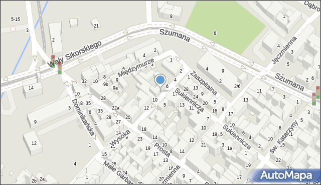 Toruń, Wysoka, 8, mapa Torunia