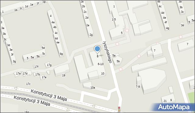 Toruń, Wyszyńskiego Stefana, ks. kard., 6, mapa Torunia