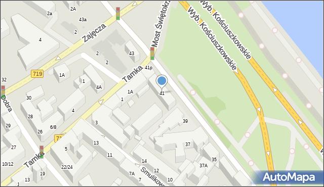 Warszawa, Wybrzeże Kościuszkowskie, 41, mapa Warszawy