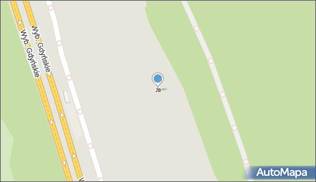Warszawa, Wybrzeże Gdyńskie, 2B, mapa Warszawy