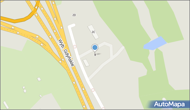 Warszawa, Wybrzeże Gdyńskie, 8, mapa Warszawy