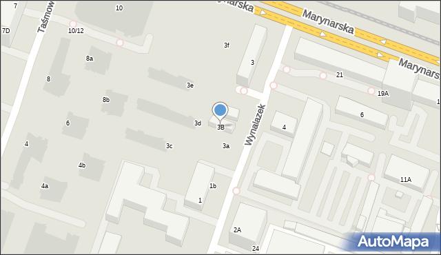 Warszawa, Wynalazek, 3B, mapa Warszawy