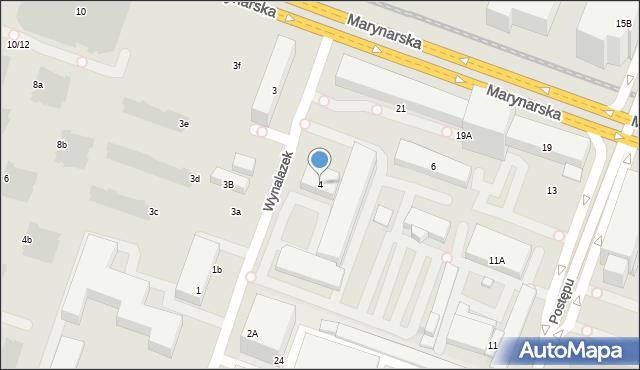 Warszawa, Wynalazek, 4, mapa Warszawy