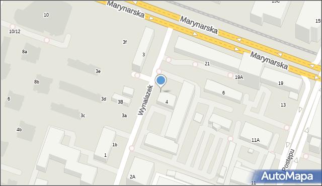 Warszawa, Wynalazek, 4b, mapa Warszawy