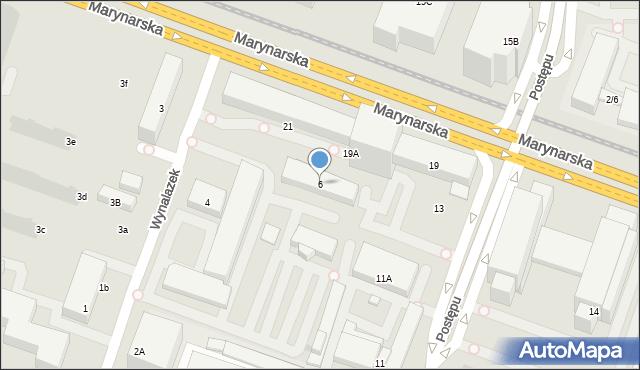 Warszawa, Wynalazek, 6, mapa Warszawy