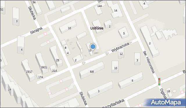 Warszawa, Wybrańska, 29, mapa Warszawy