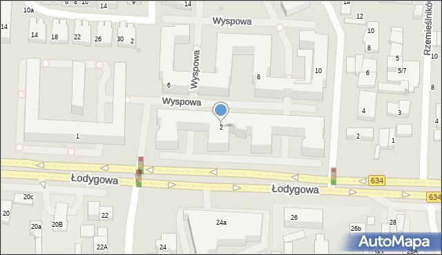 Warszawa, Wyspowa, 2, mapa Warszawy