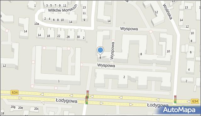 Warszawa, Wyspowa, 6, mapa Warszawy