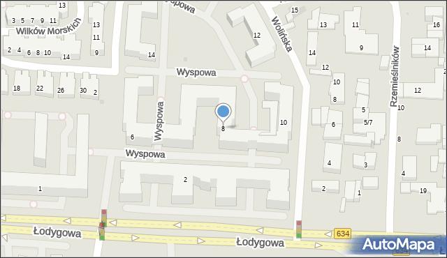 Warszawa, Wyspowa, 8, mapa Warszawy