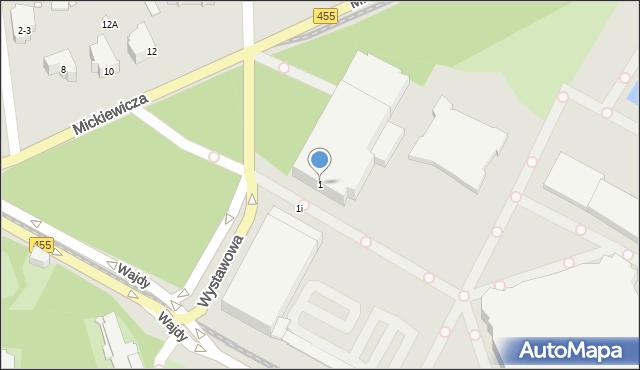 Wrocław, Wystawowa, 1, mapa Wrocławia