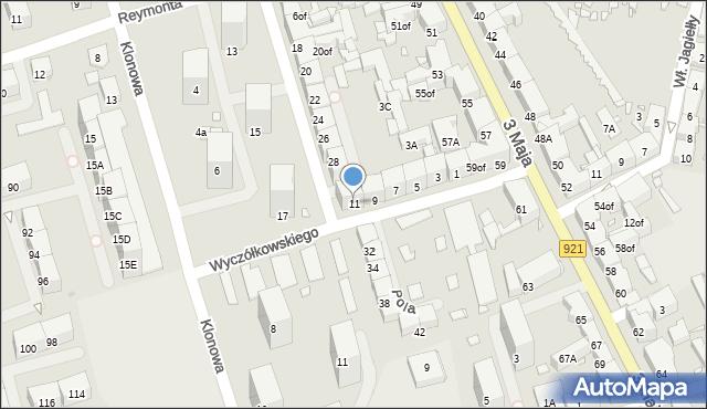 Zabrze, Wyczółkowskiego Leona, 11, mapa Zabrza