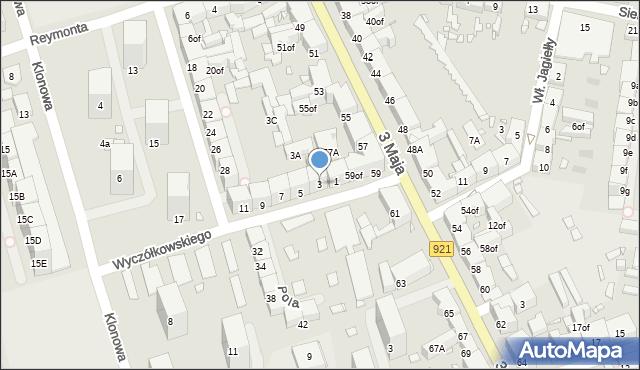 Zabrze, Wyczółkowskiego Leona, 3, mapa Zabrza
