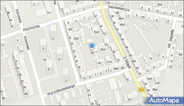 Zabrze, Wyczółkowskiego Leona, 3C, mapa Zabrza