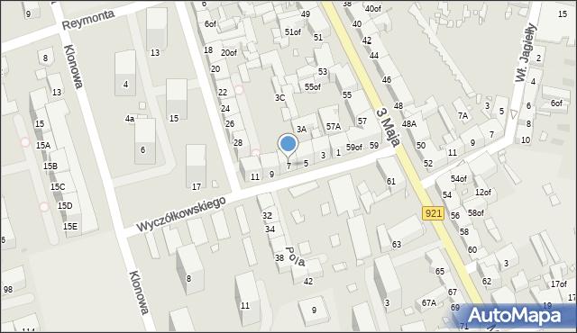 Zabrze, Wyczółkowskiego Leona, 7, mapa Zabrza