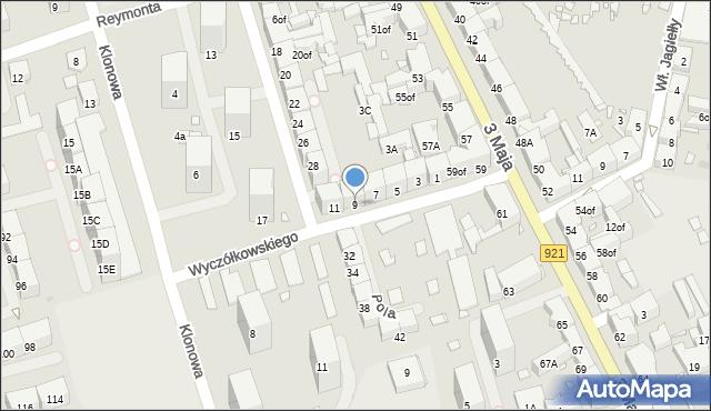 Zabrze, Wyczółkowskiego Leona, 9, mapa Zabrza