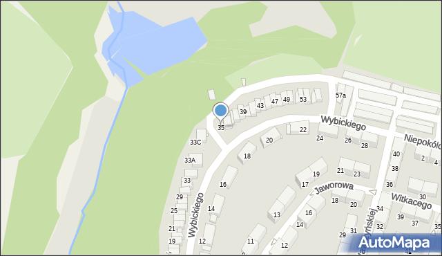 Zabrze, Wybickiego Józefa, gen., 35, mapa Zabrza