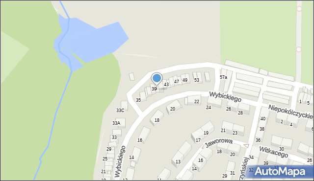 Zabrze, Wybickiego Józefa, gen., 41, mapa Zabrza